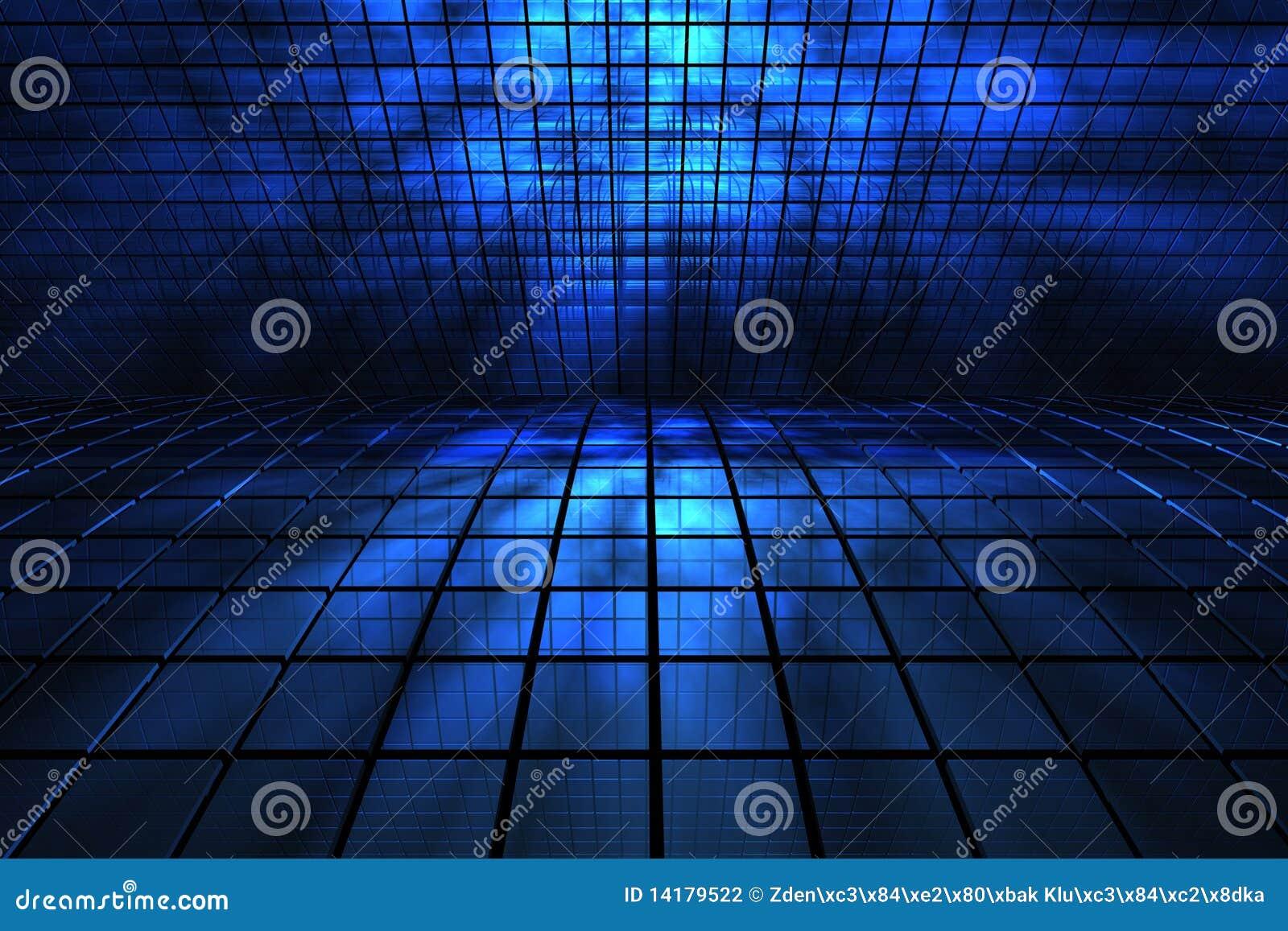 3D blauwe ruimte