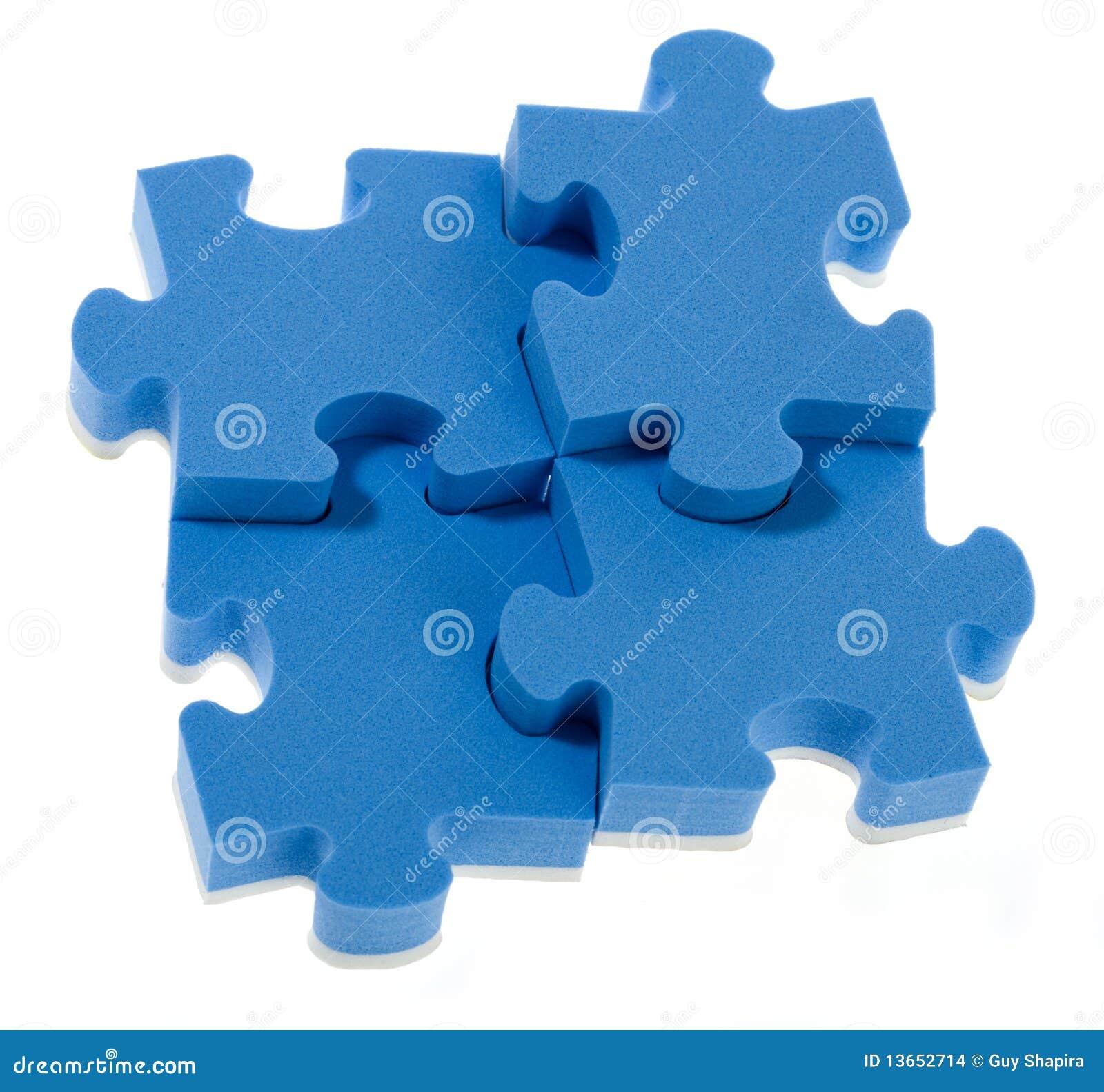 3D blue puzzle