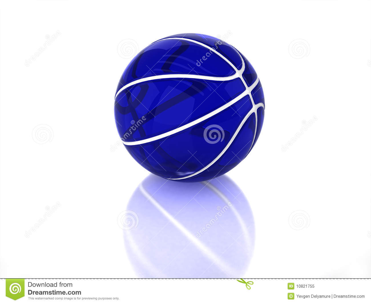 3D Blue Transparent Glossy Basketball Royalty Free Stock ...
