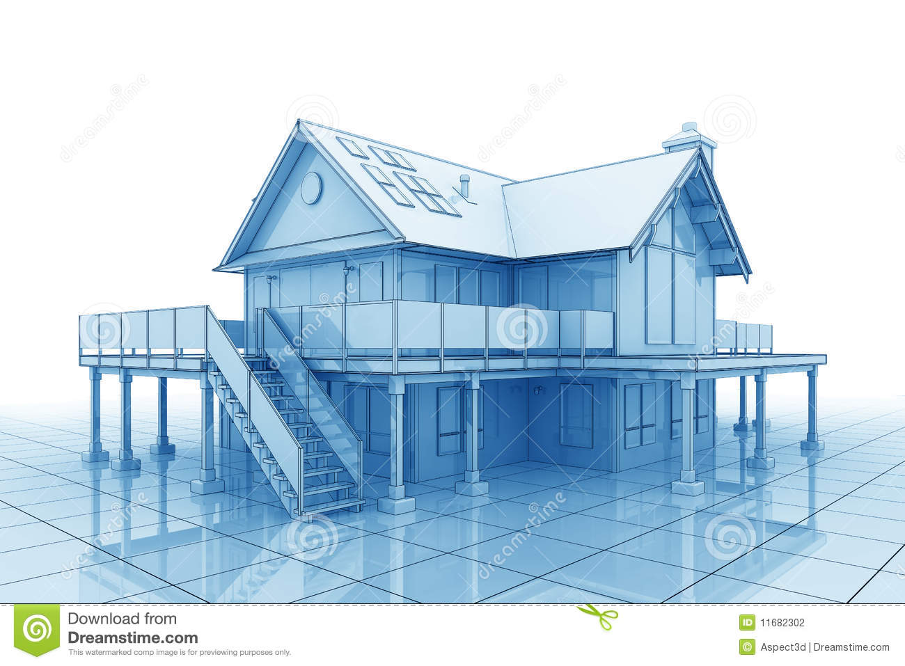 3d blueprint house stock photography image 11682302 for 3d house blueprints