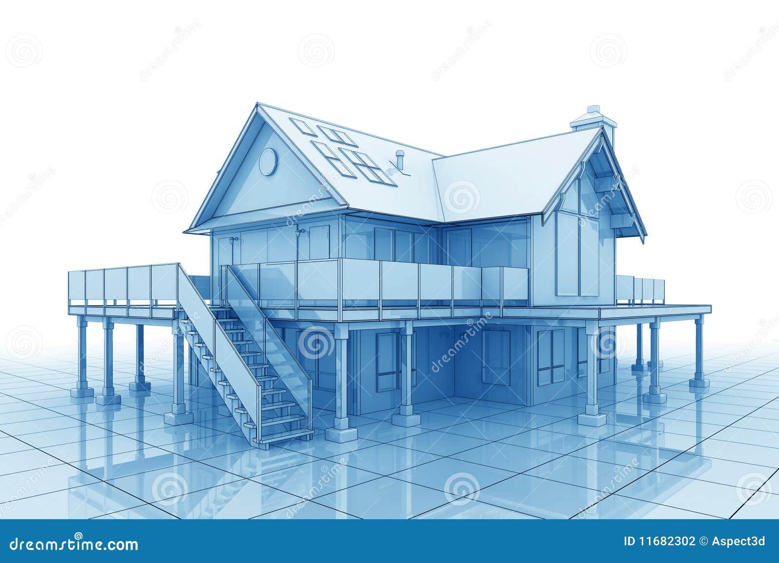 3d blueprint house stock photography image 11682302 for 3d house blueprints