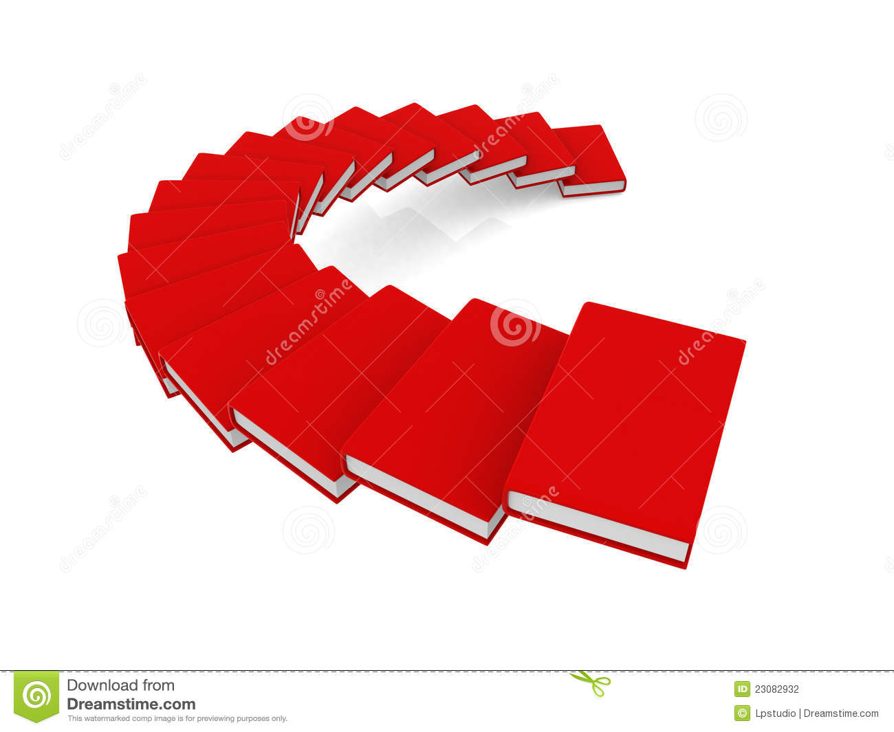 3d Book Spiral Stair With Blank Cover Stock Illustration