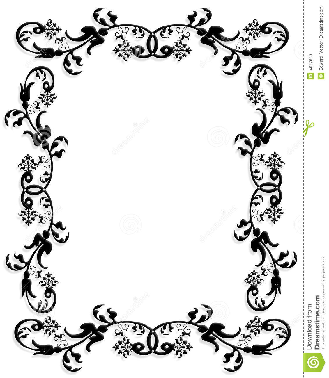 3d Border Frame Black Stock Illustration Illustration Of Design