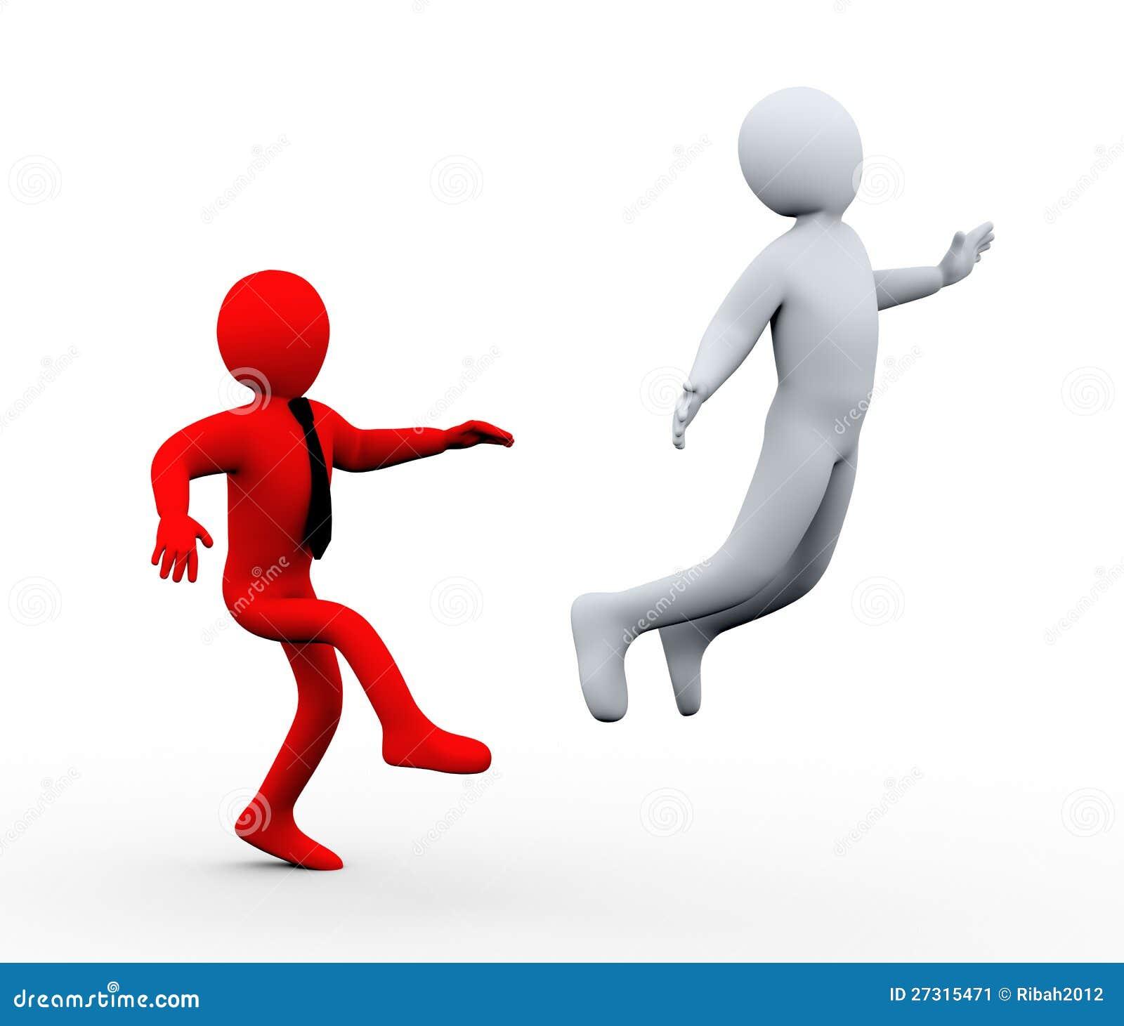 3d Boss Kick Out Employee Stock Image - Image: 27315471