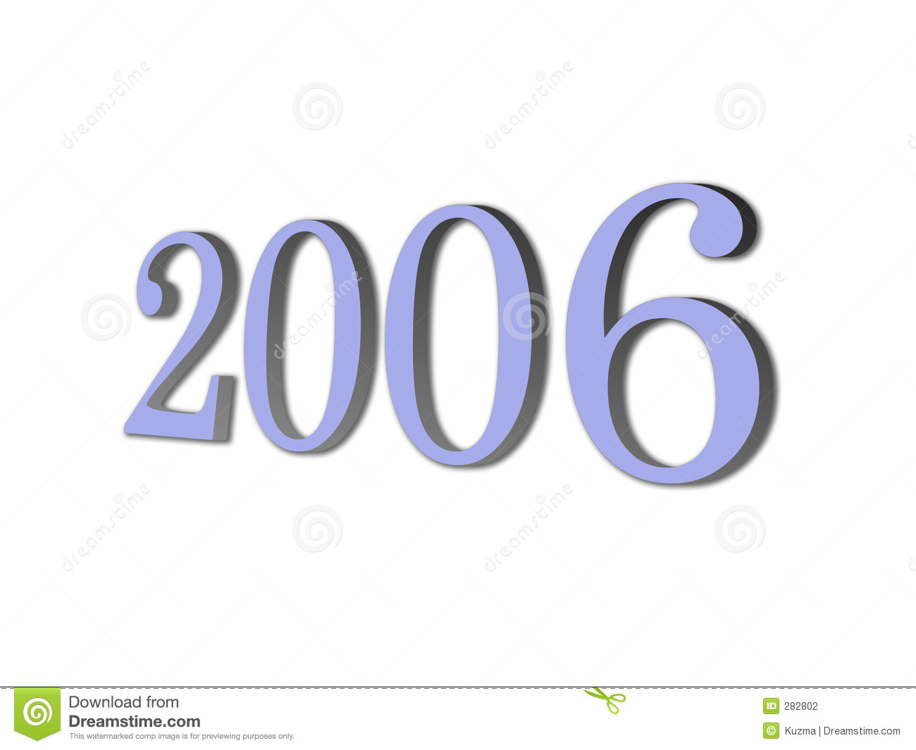 3d brand new year 2006 stock photography