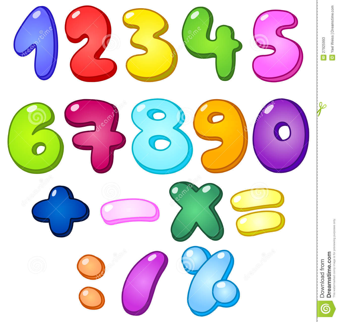 3d Bubble Numbers Stock Photos