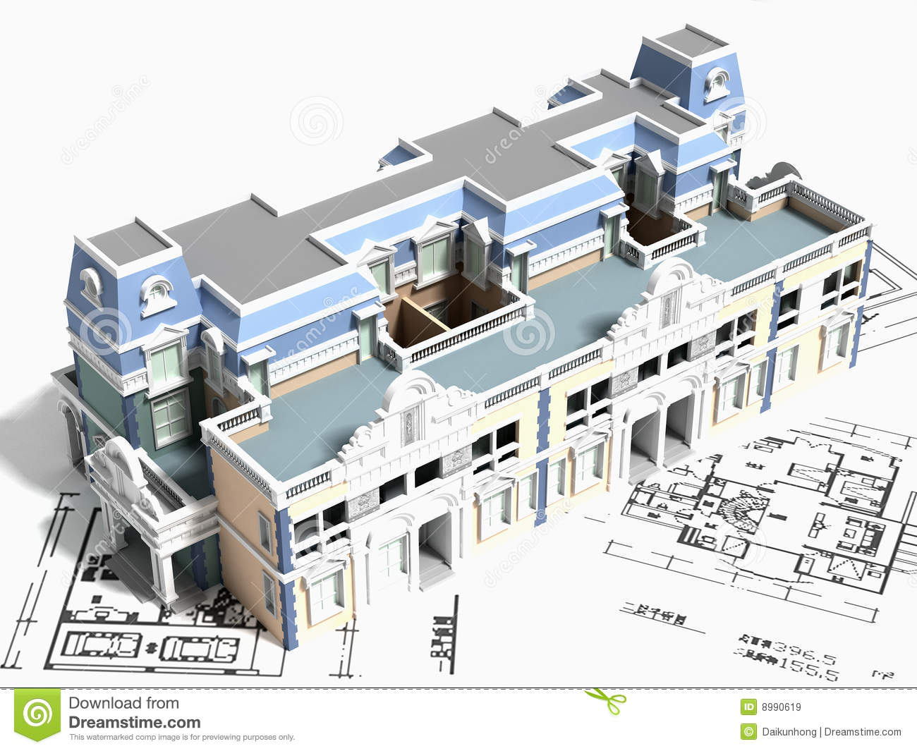 3d building design royalty free stock images image 8990619 for Building plans images