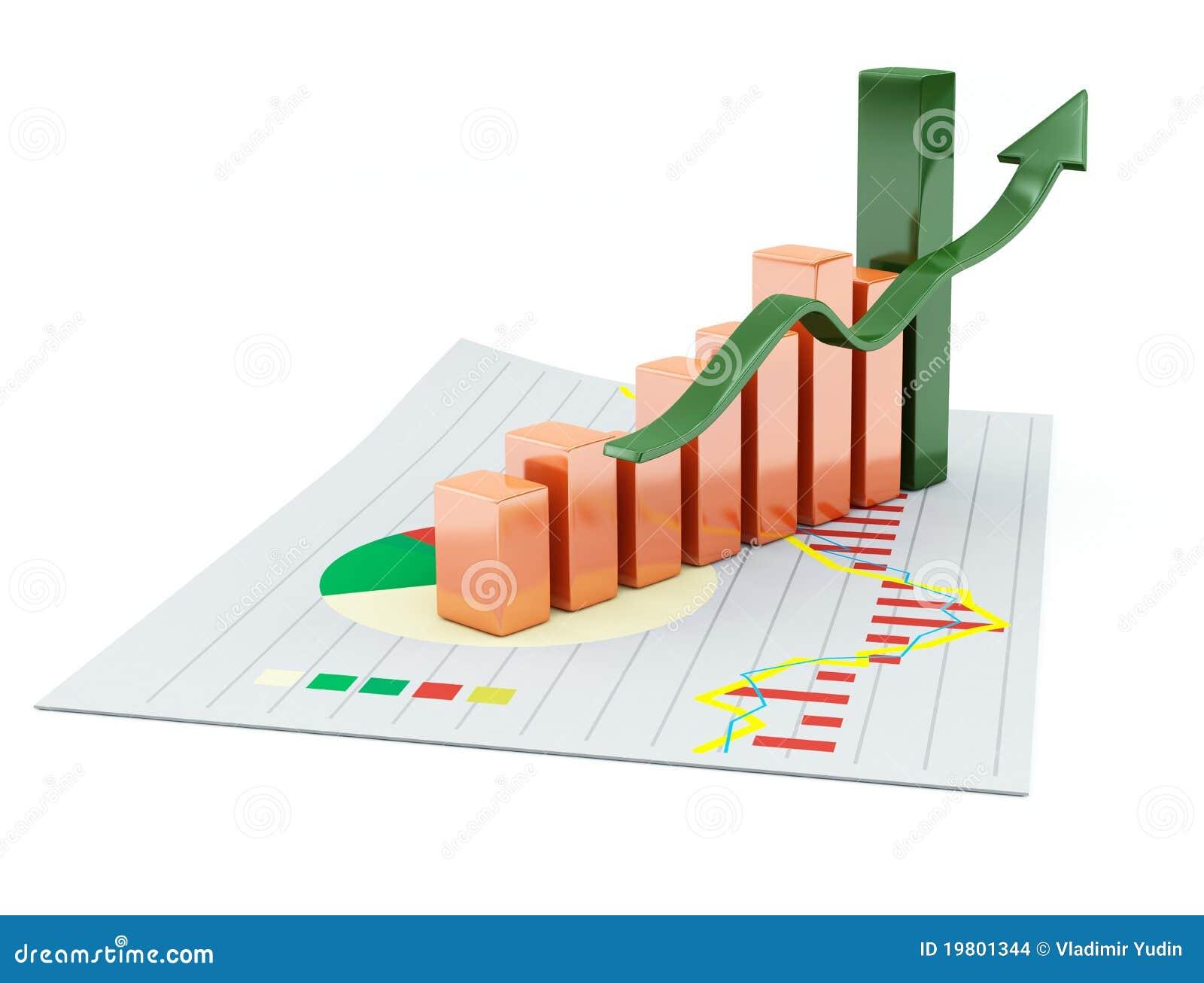3d business chart stock illustration illustration of chart 19801344