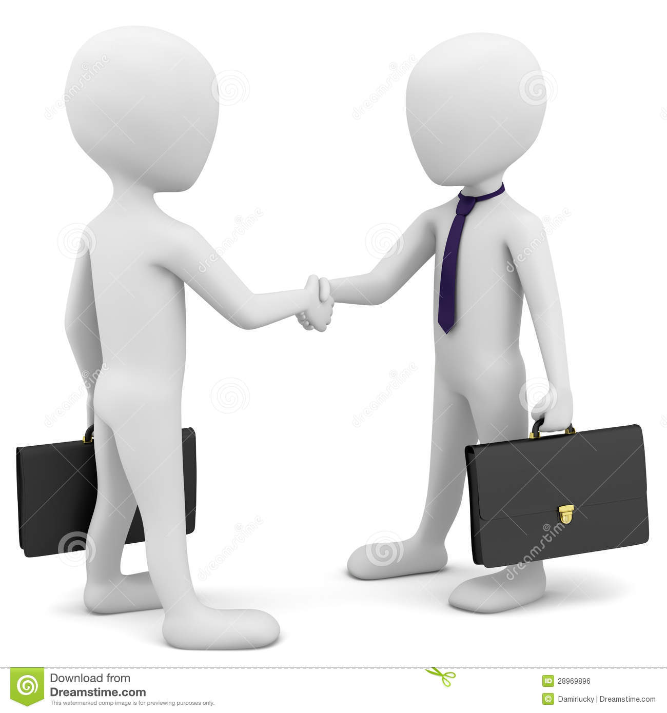 3d Business People Greet. Royalty Free Stock Image - Image: 28969896