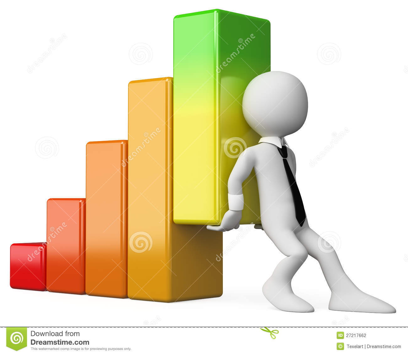 3d business white people economy bar graph stock photography image 27217662 Bar Graph Template Bar Graph On Easal