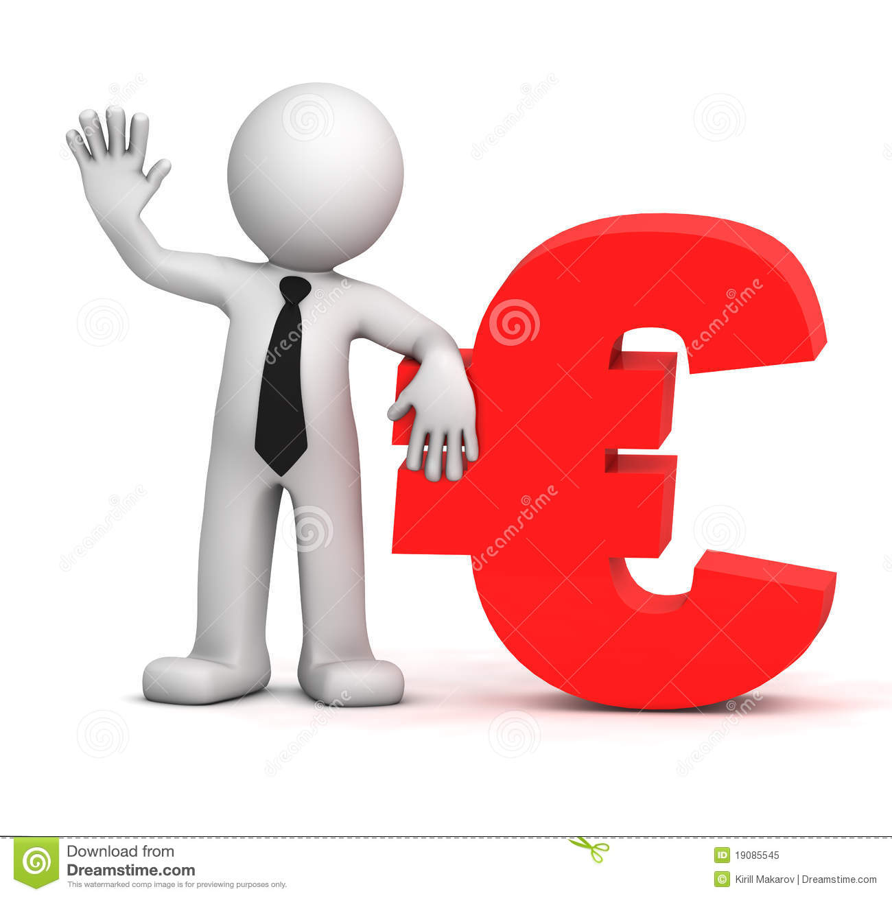 3d businessman with euro currency symbol stock illustration 3d businessman with euro currency symbol buycottarizona Choice Image