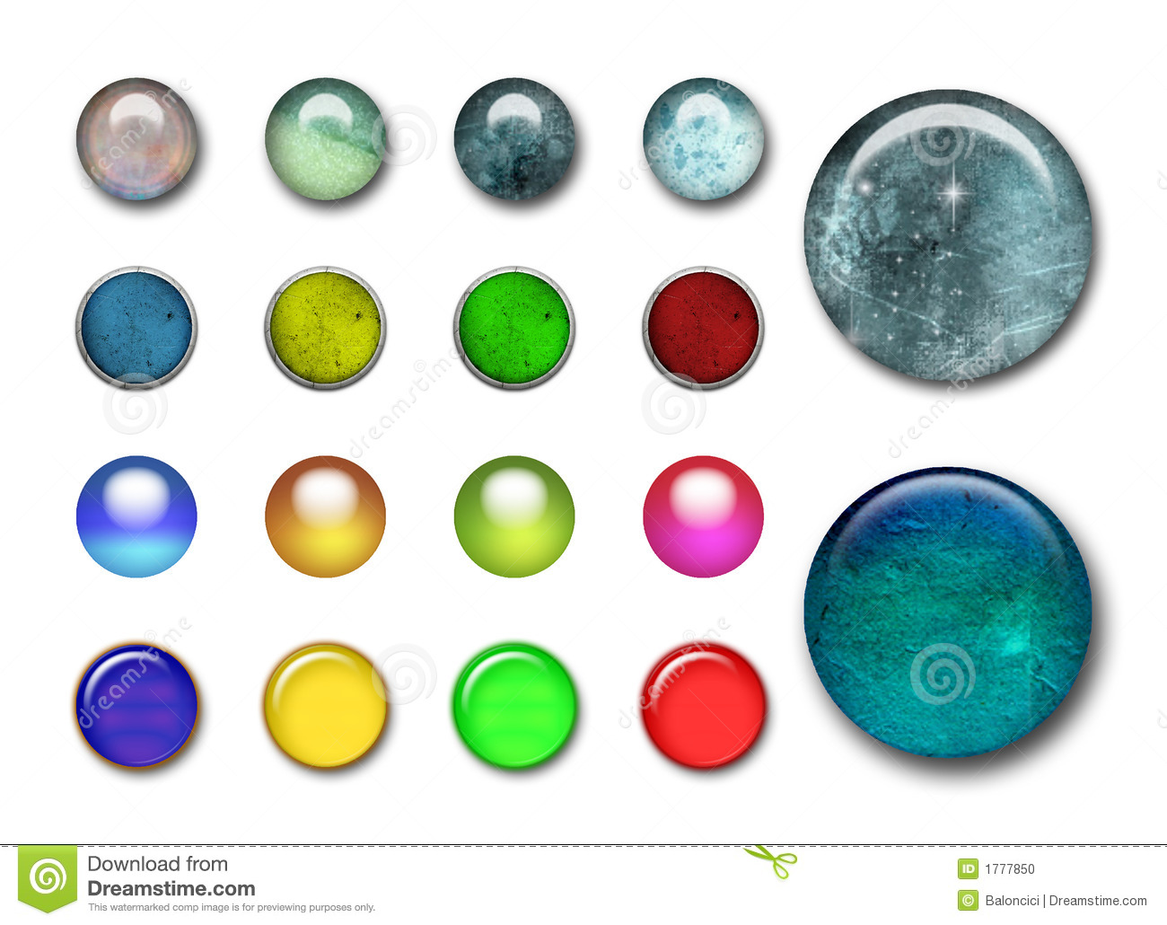 3d Buttons Stock Photo Image 1777850