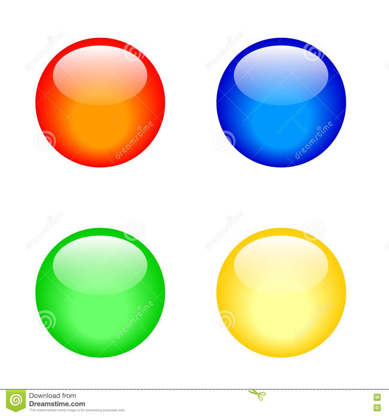 3D Buttons Royalty Free Stock Images