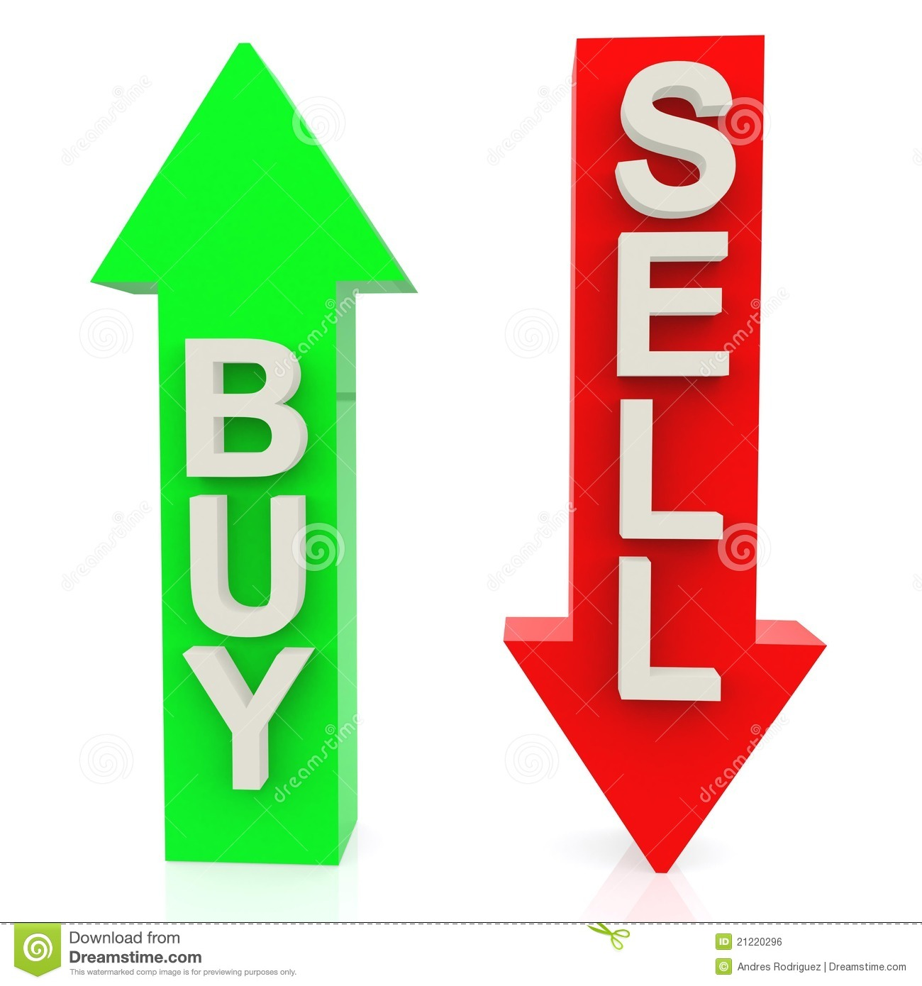 Buy: 3D Buy Or Sell Stock Illustration. Illustration Of Market