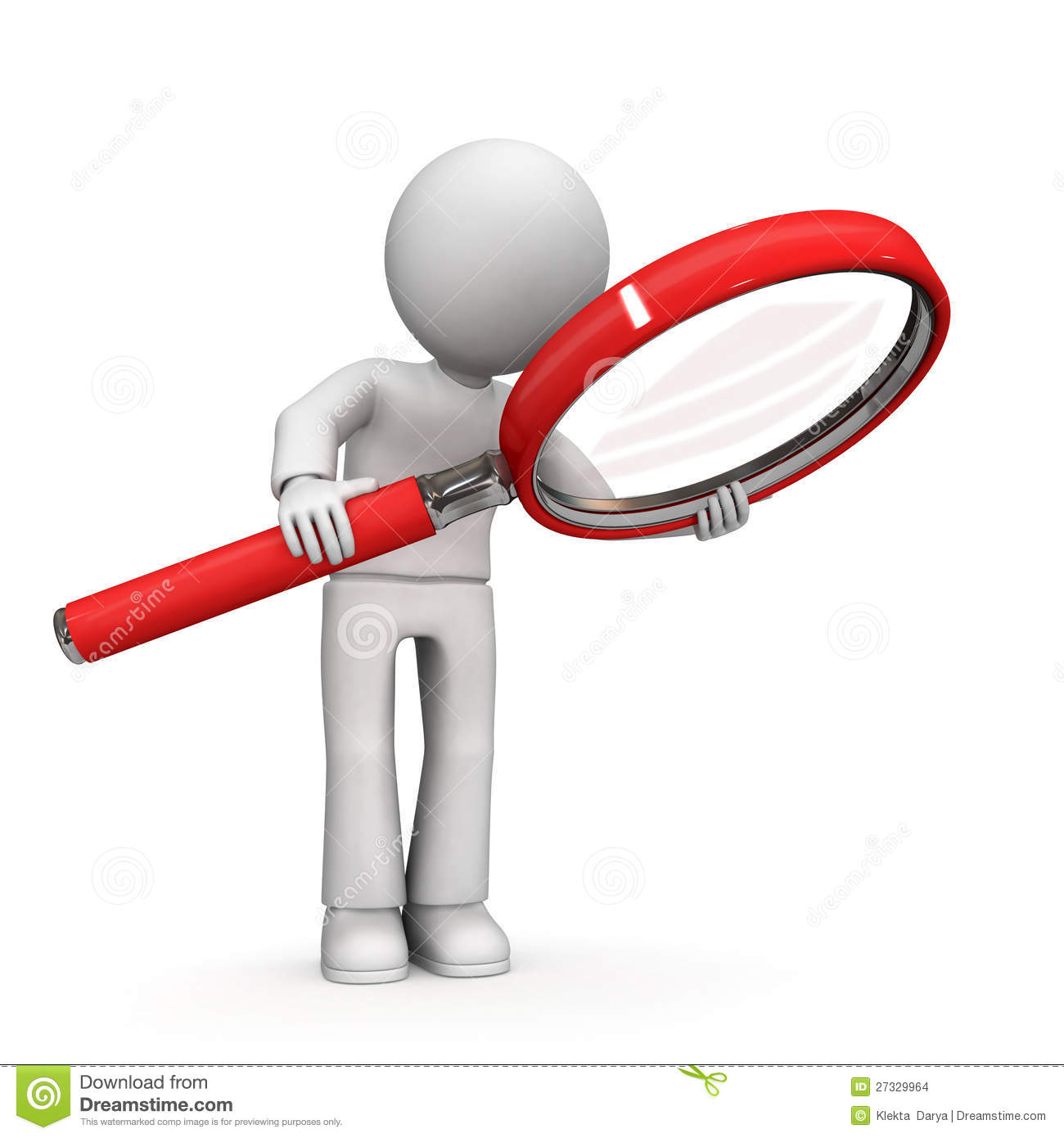 3D Character With Magnifying Glass Stock Images - Image: 27329964