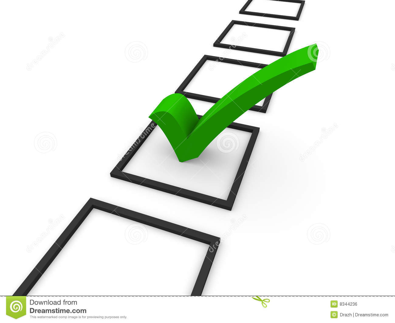 3D Checklist Royalty Free Stock Image - Image: 8344236