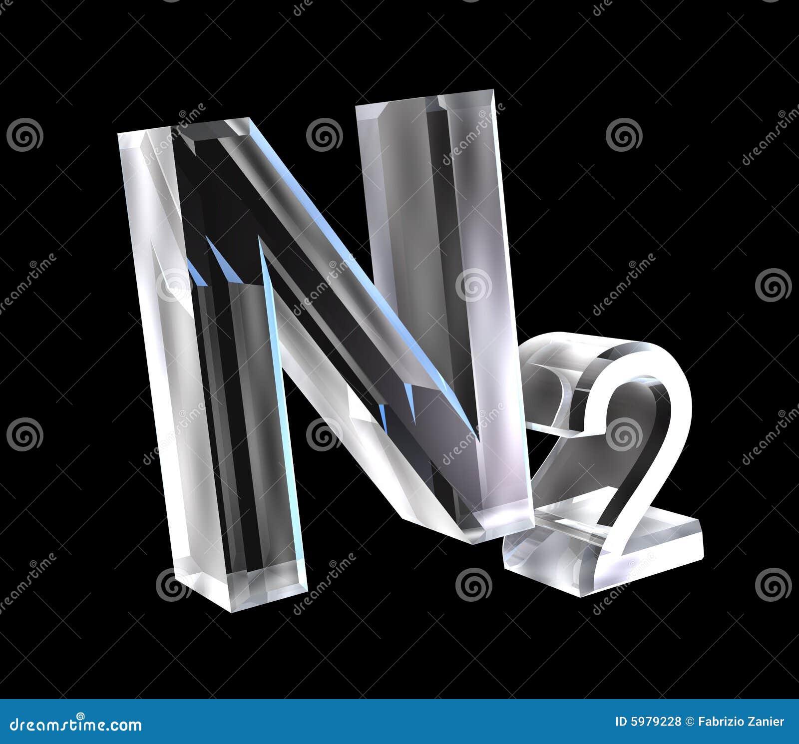 3d Chemistry Formulas In Glass Of Nitrogen Royalty Free Stock Photos ...
