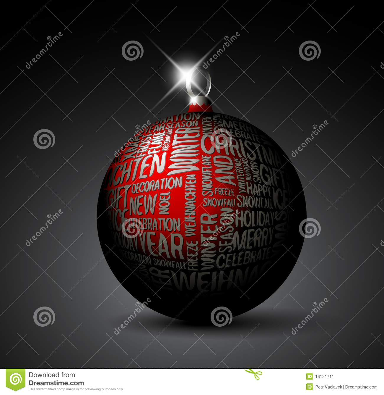 3d christmas decoration stock image image 16121711 for 3d christmas decoration