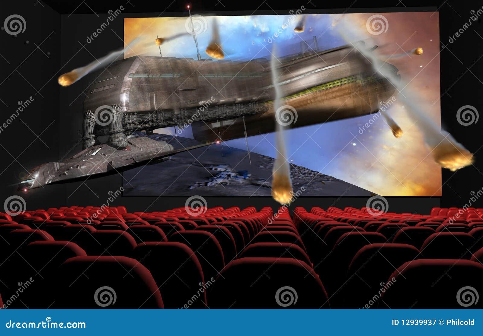 3d Cinema Royalty Free Stock Photography Image 12939937