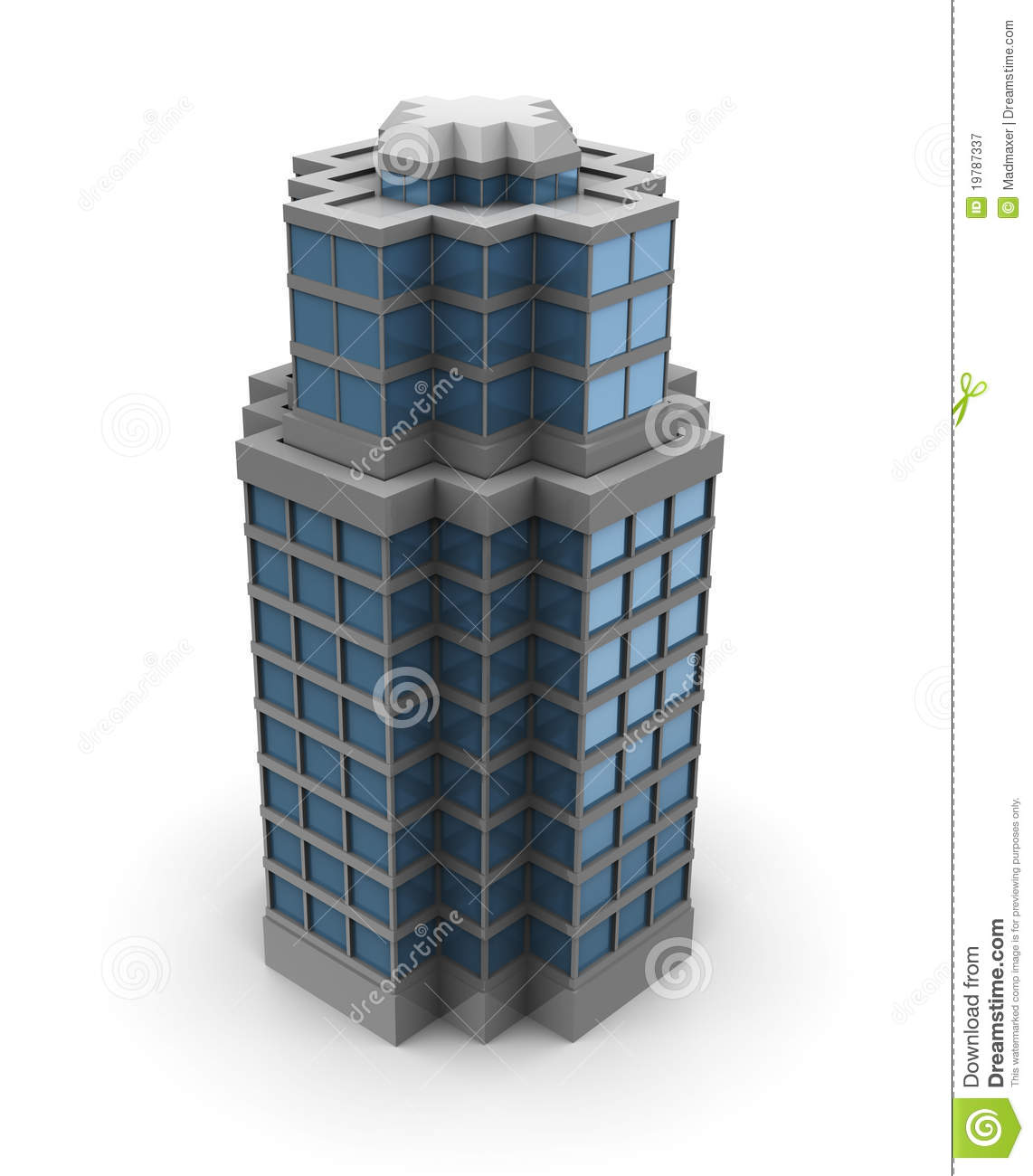 3d City Building Royalty Free Stock Photography Image