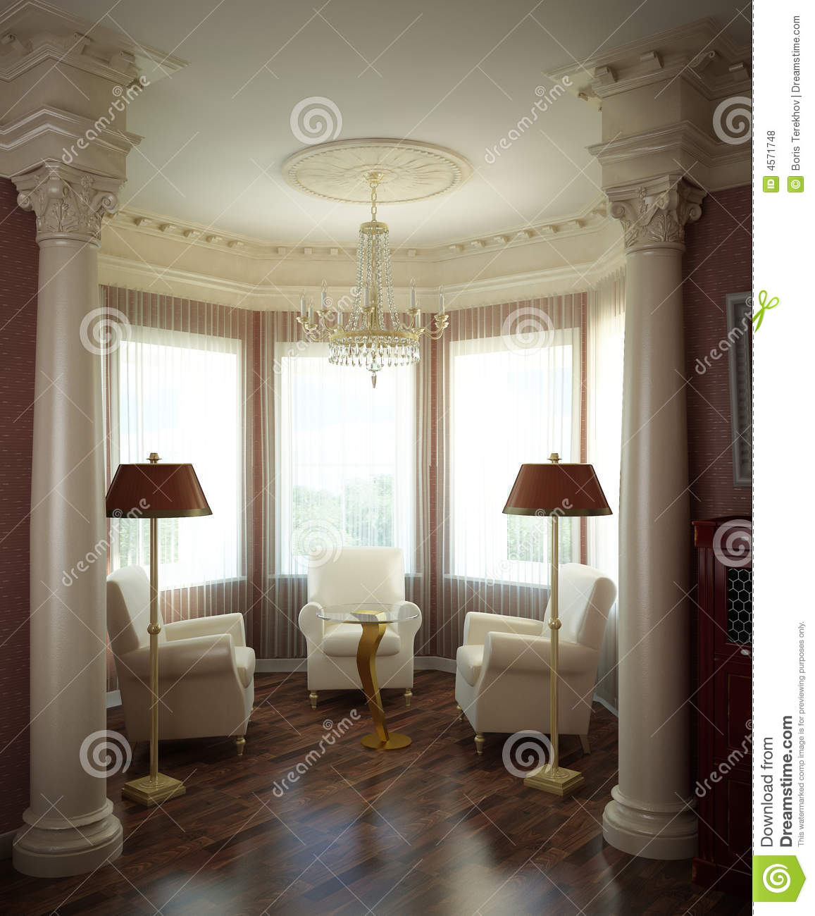 3d Classical Interior Royalty Free Stock Photos Image