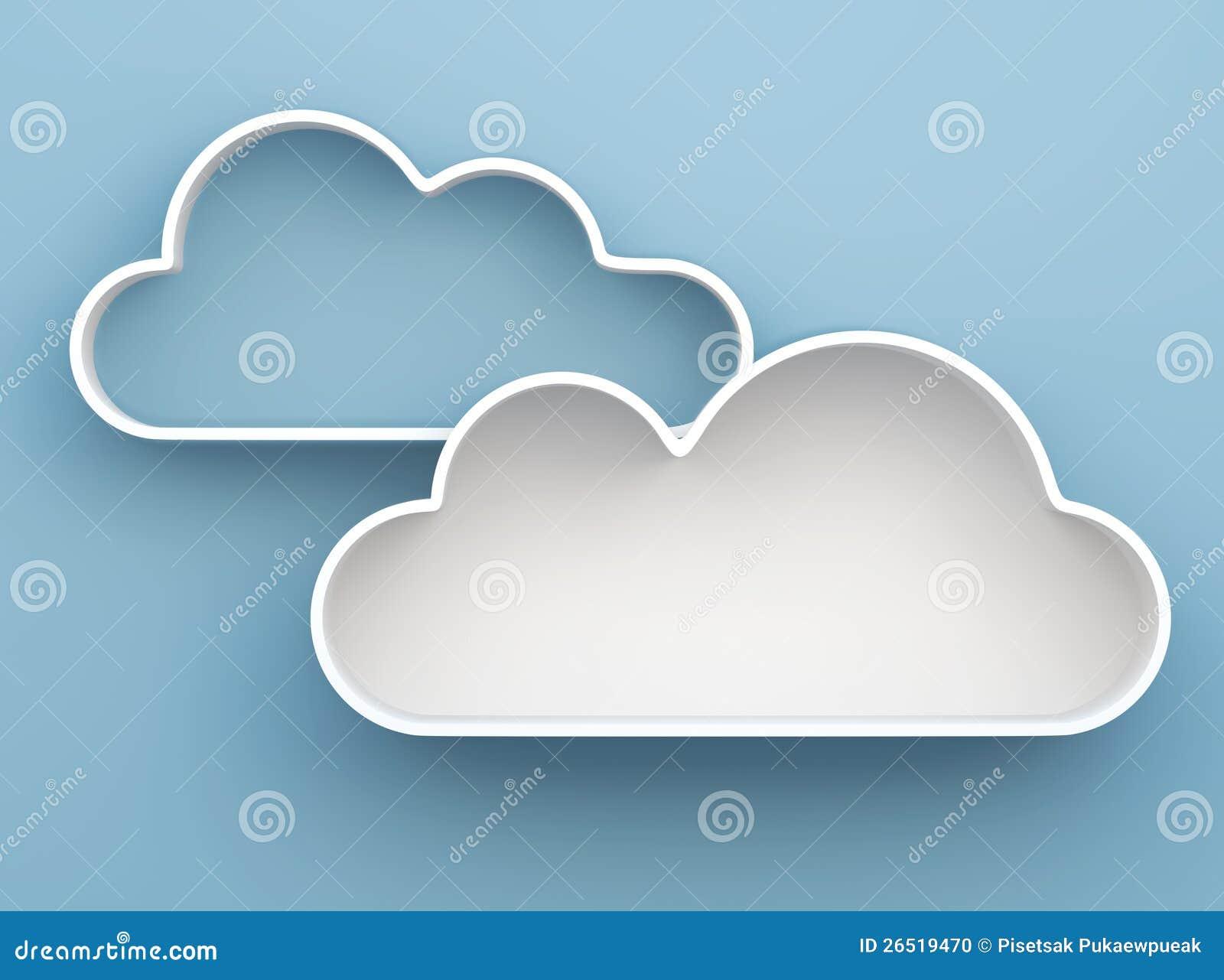 3d Cloud Shelves And Shelf Design Stock Photo Image