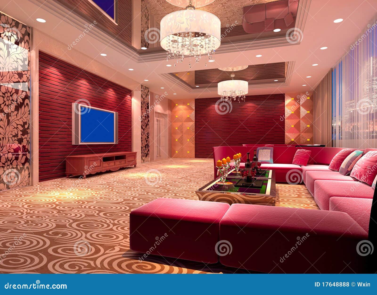 3d Club Room Hall Royalty Free Stock Photos Image 17648888