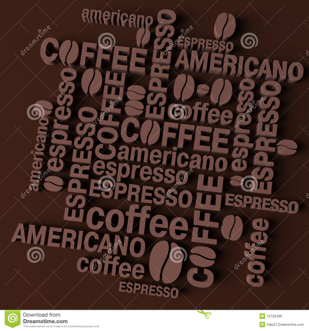 3D coffee background