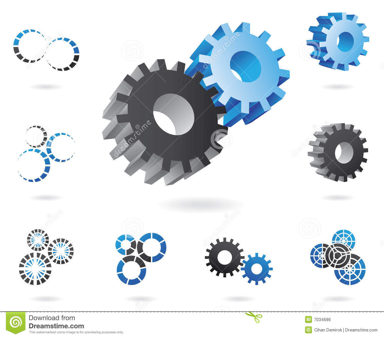 Shield design set royalty free stock photos image 5051988 - Shield Design Set 3d Cogs Royalty Free Stock Image