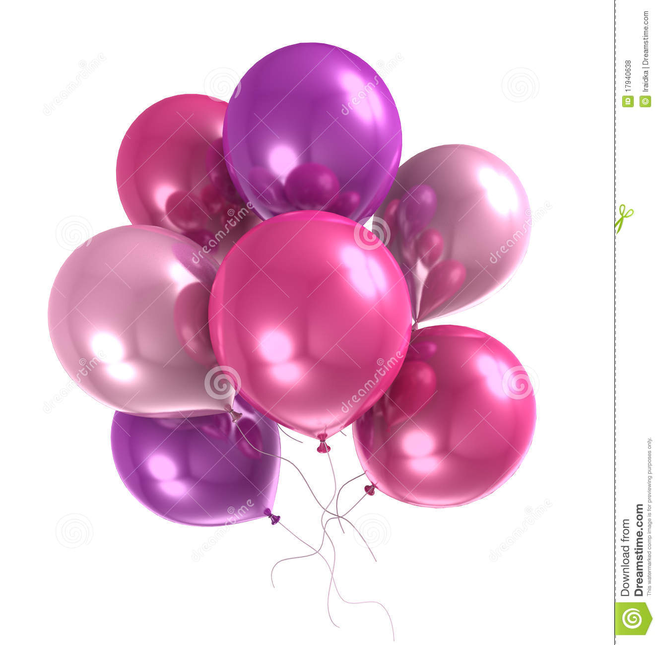 3d Color Helium Balloon Royalty Free Stock Photos - Image: 17940638