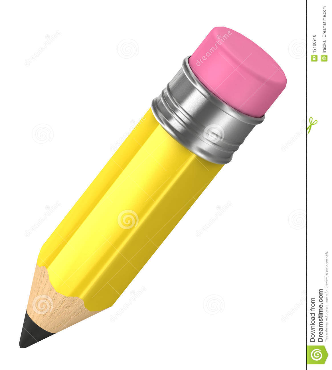 3d Color Pencil Isolated Stock Photo