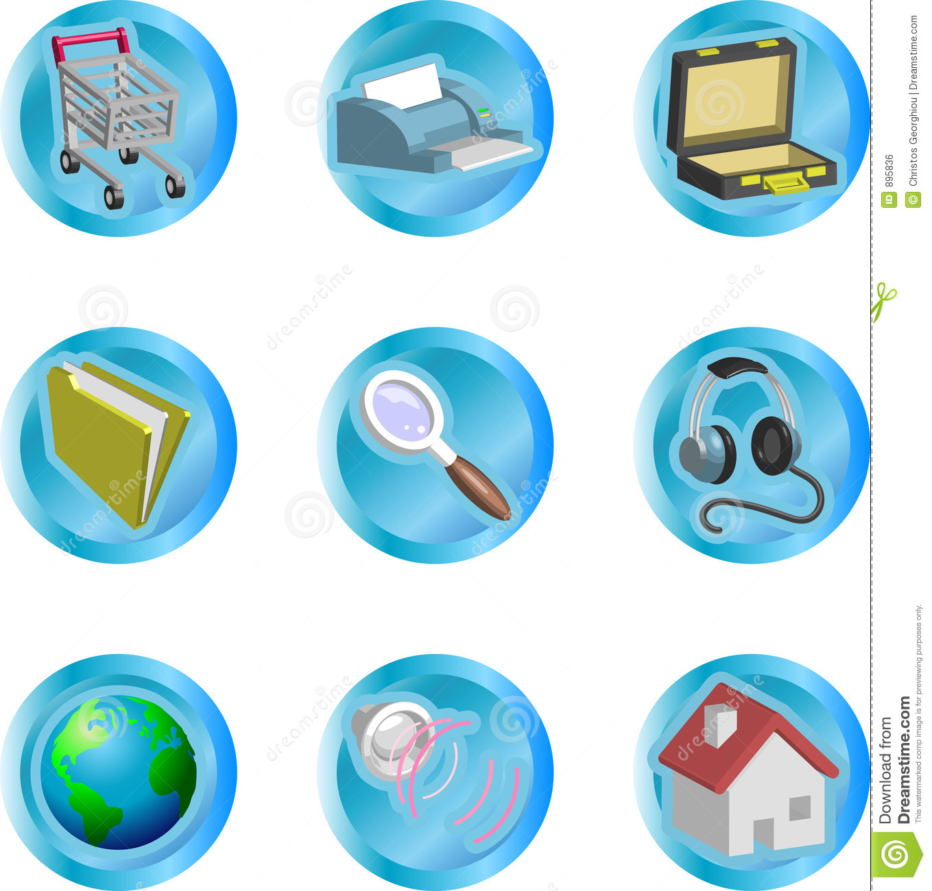 3d color web and internet icon set stock vector image 3d web browser