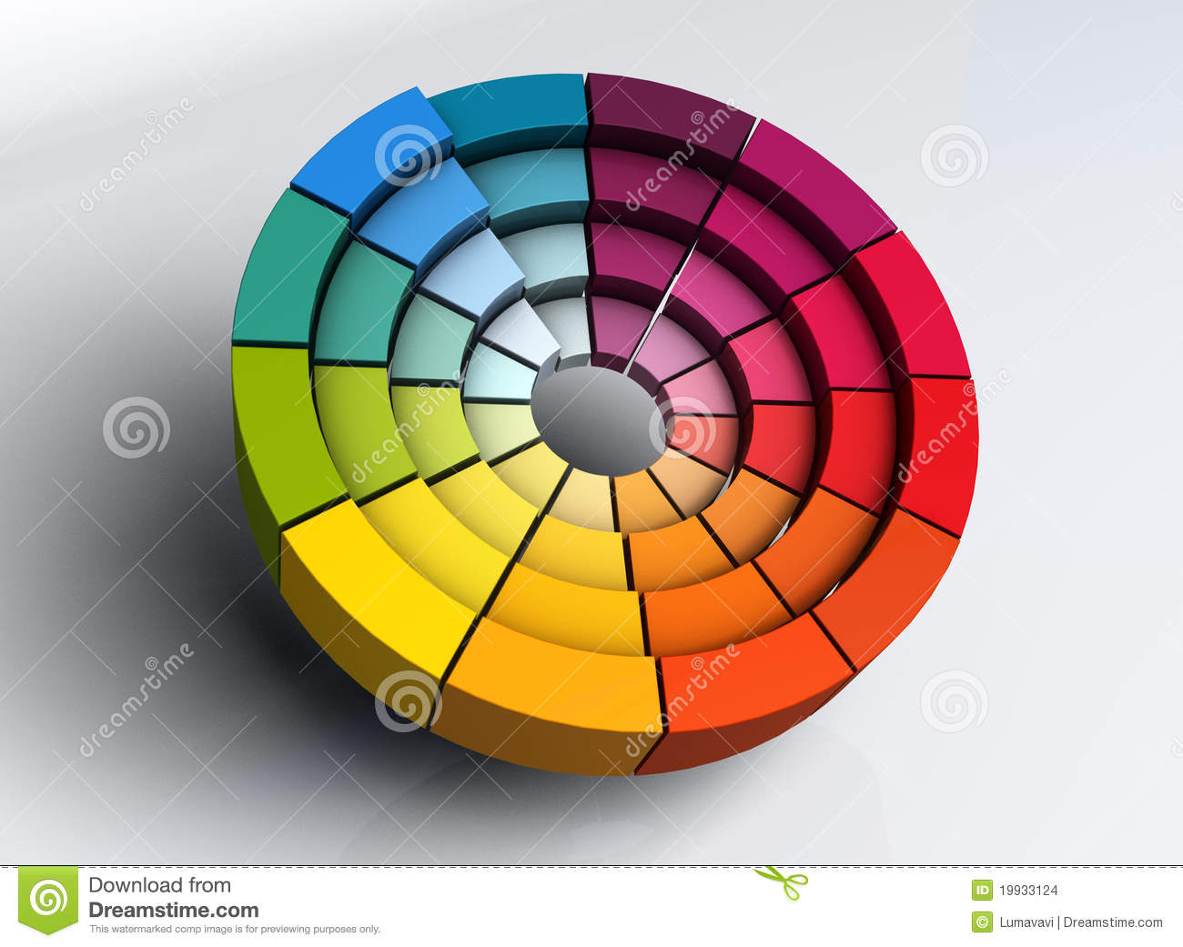 3d Color Wheel Stock Images - Image: 19933124