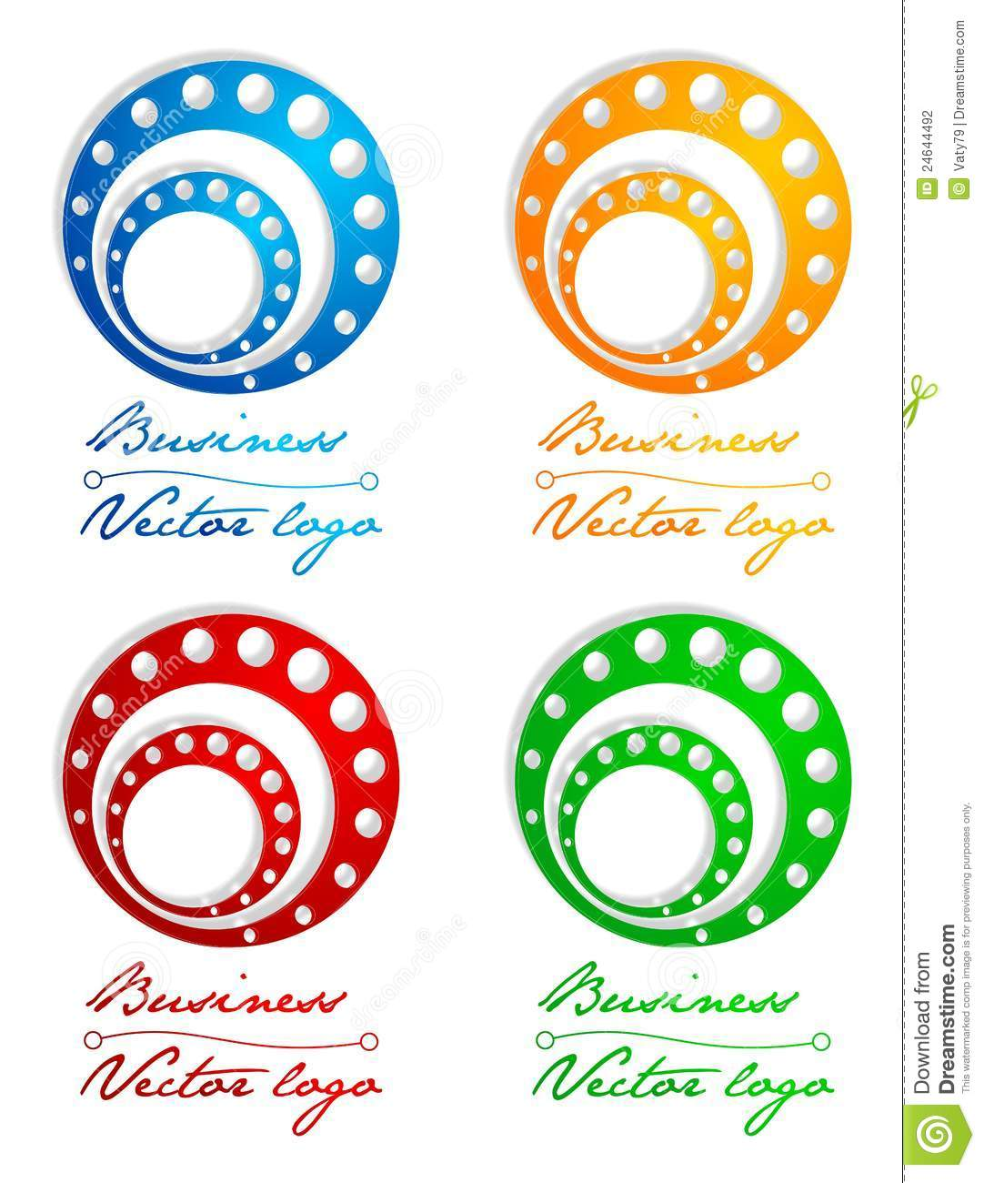 3D Colored Circle In Circle Logo Stock Photography - Image