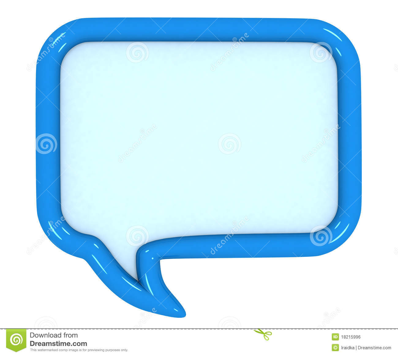 3d colored speech bubbles royalty free stock image image 18215996