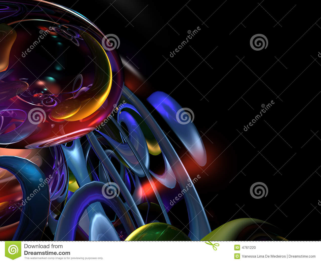 Pics photos 3d colorful abstract background design - 3d Colorful Abstract Render Black Background Stock Photo