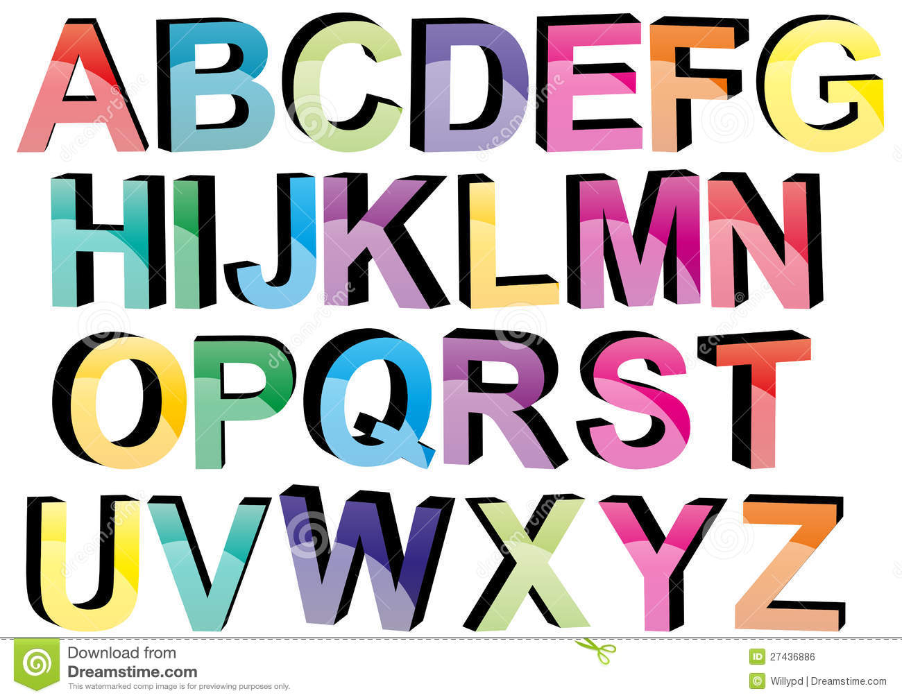 how to make color fonts