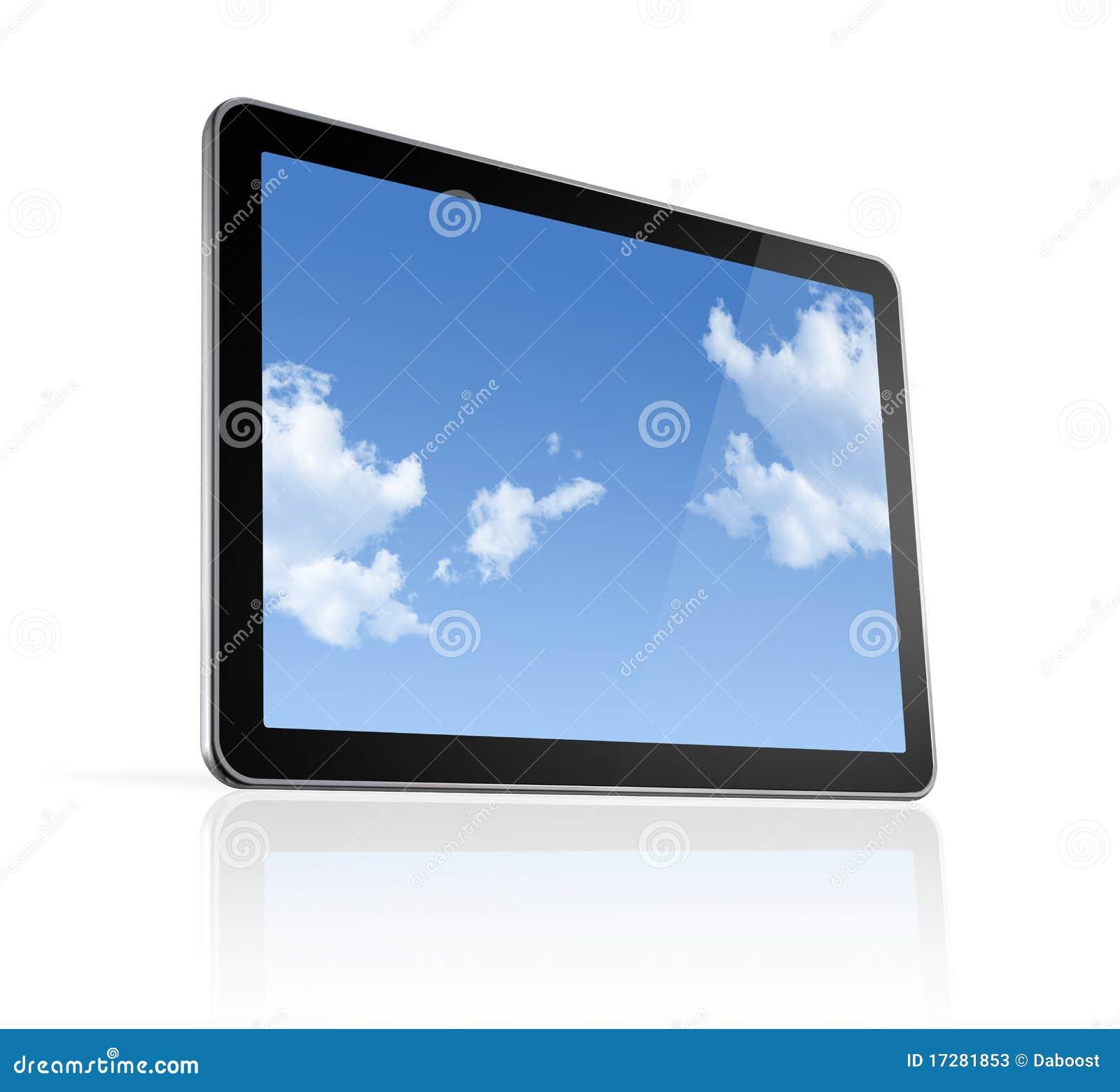3D Computer, Digital Tablet Pc Stock Illustration