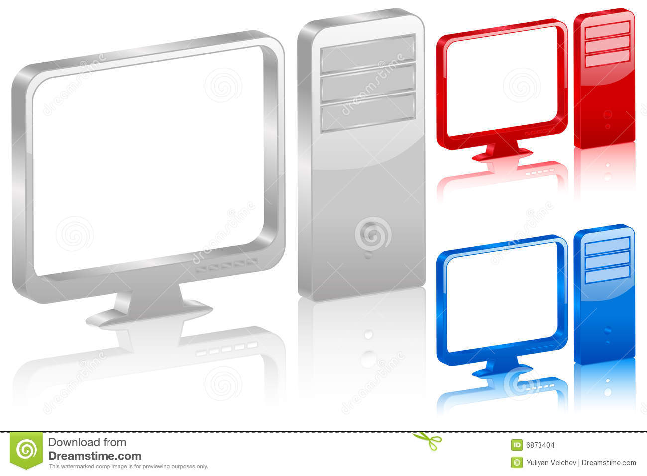 3D Computer Symbol Stock Images - Image: 6873404