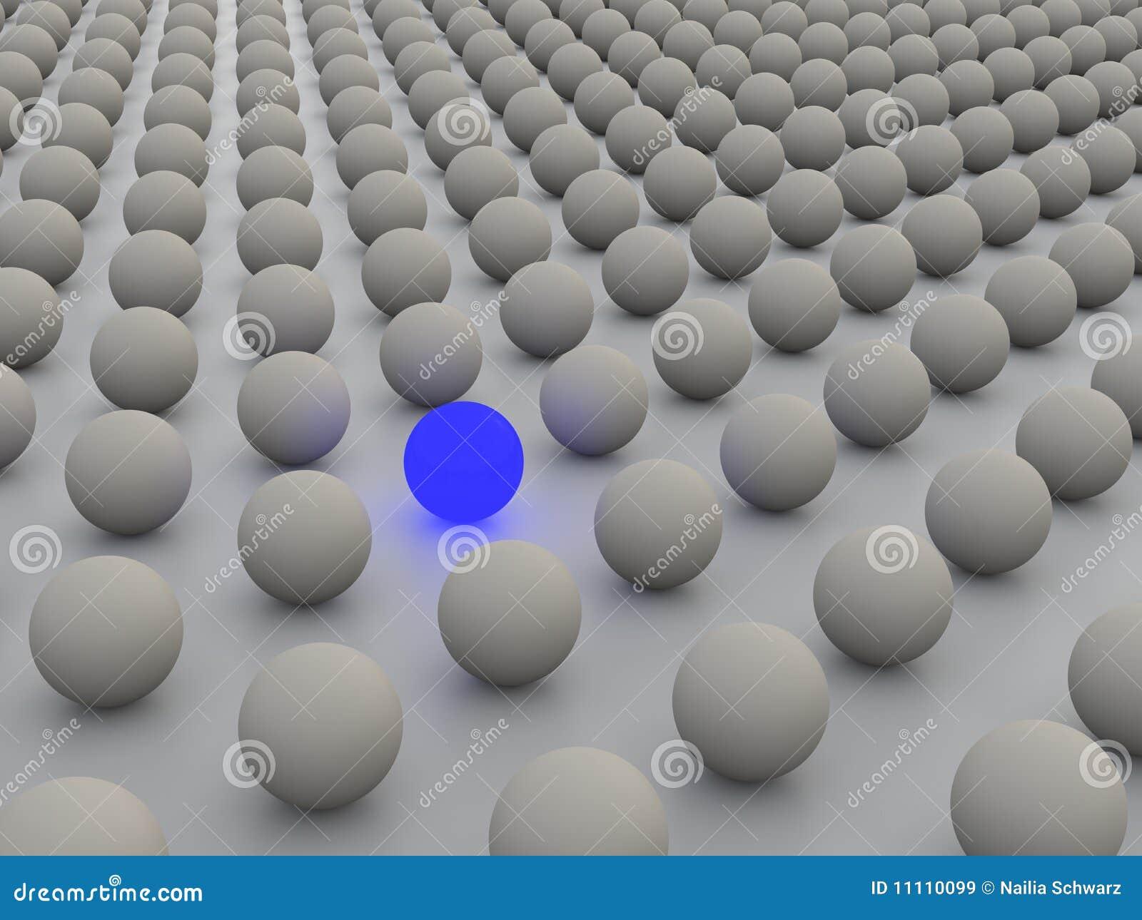 3D concept rendering depicting individualism
