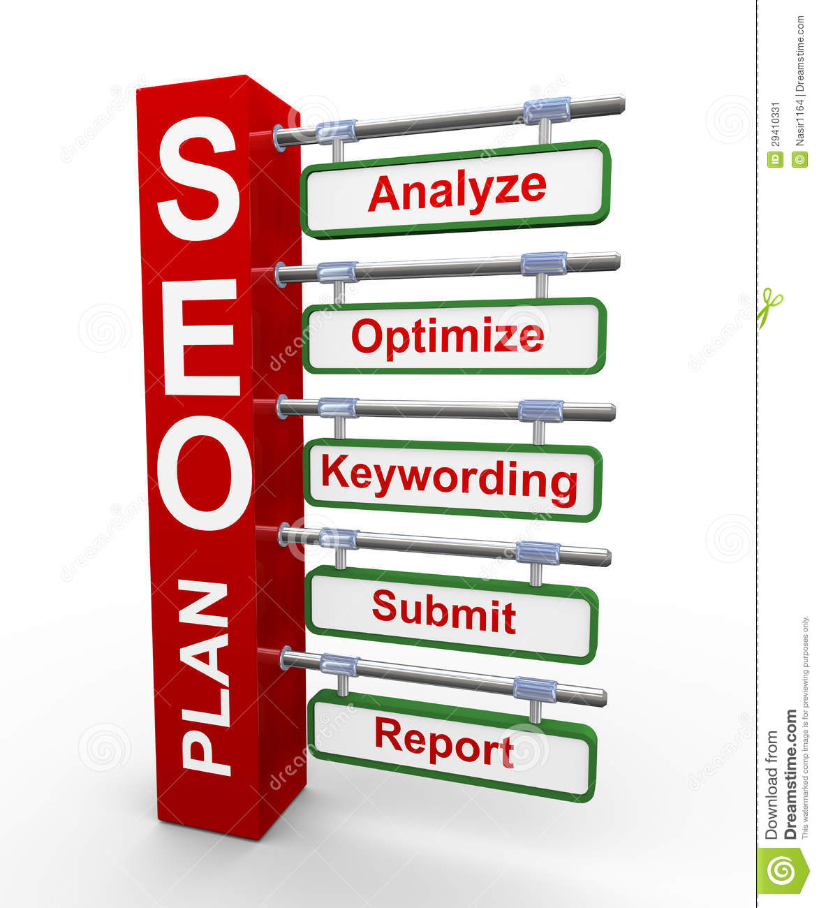 3d concept of seo search engine optimization plan stock for 3d search engine