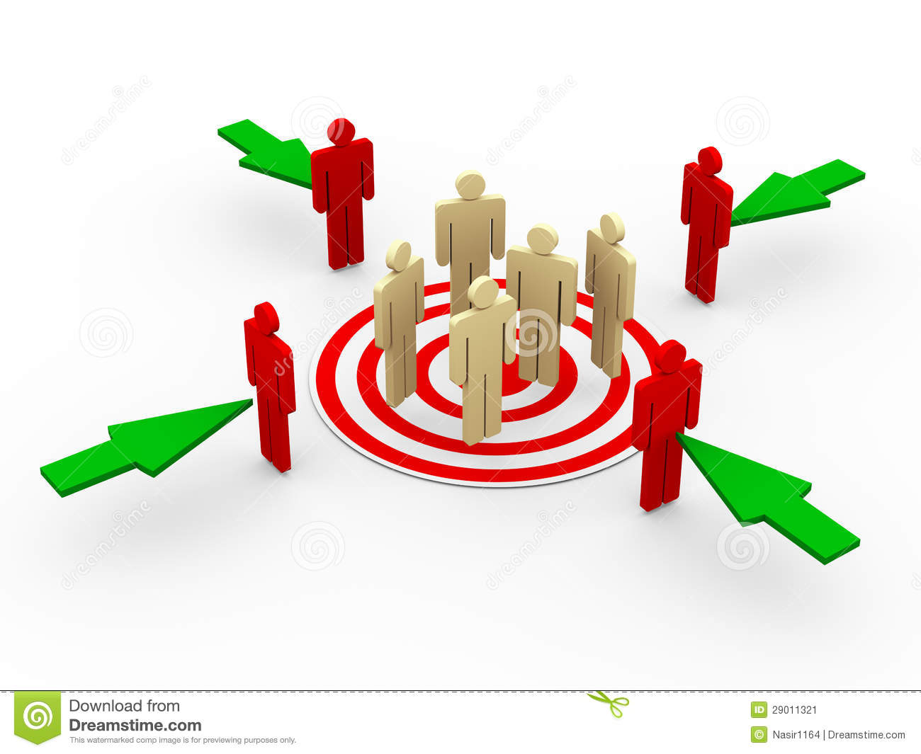3d concept of targeting customers