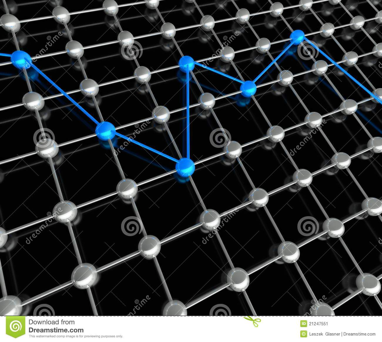 3d conception of network and communication stock image for Conception 3d