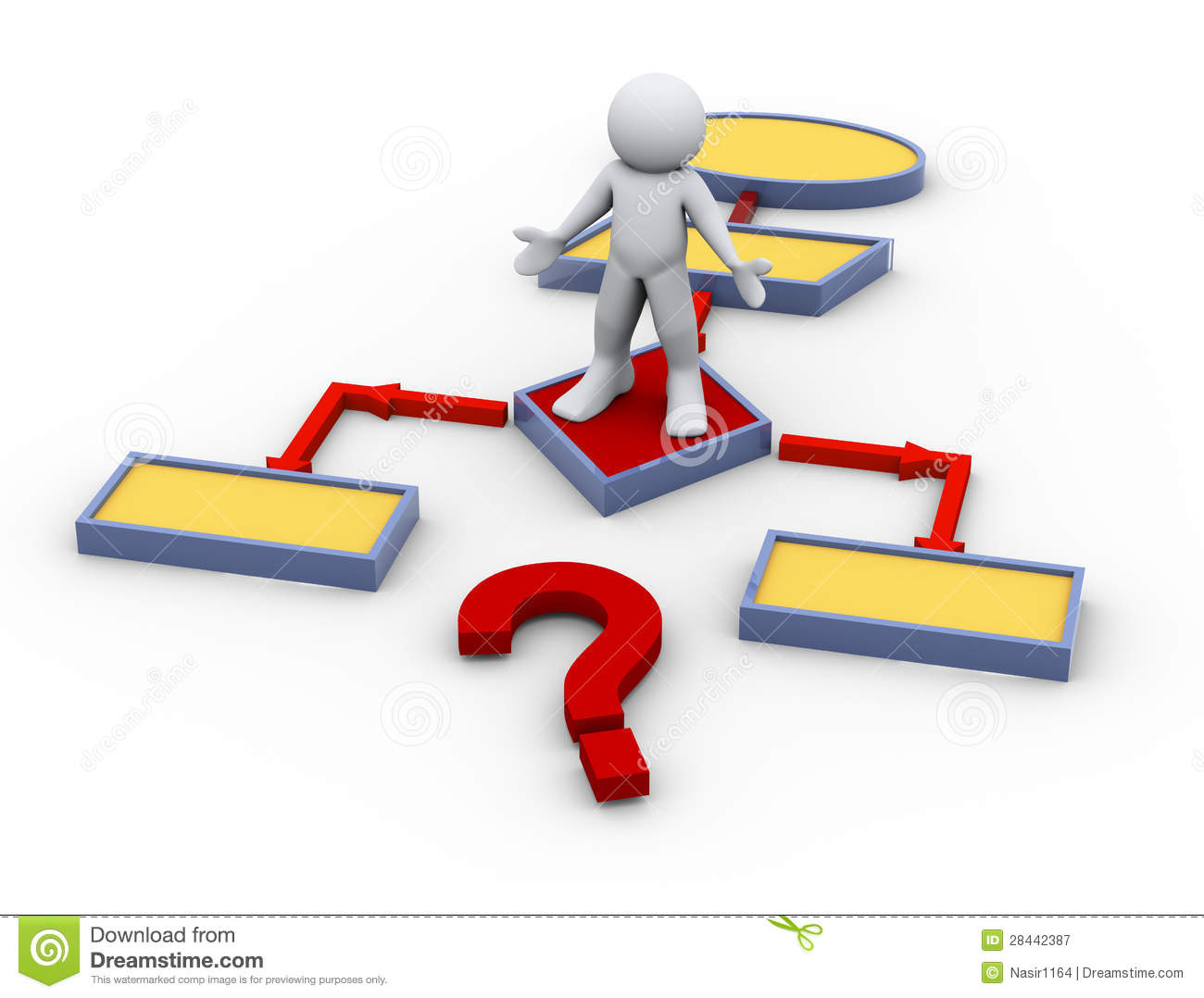 3d confused man on flow chart royalty free stock photography image 28442387 for 3d flow chart