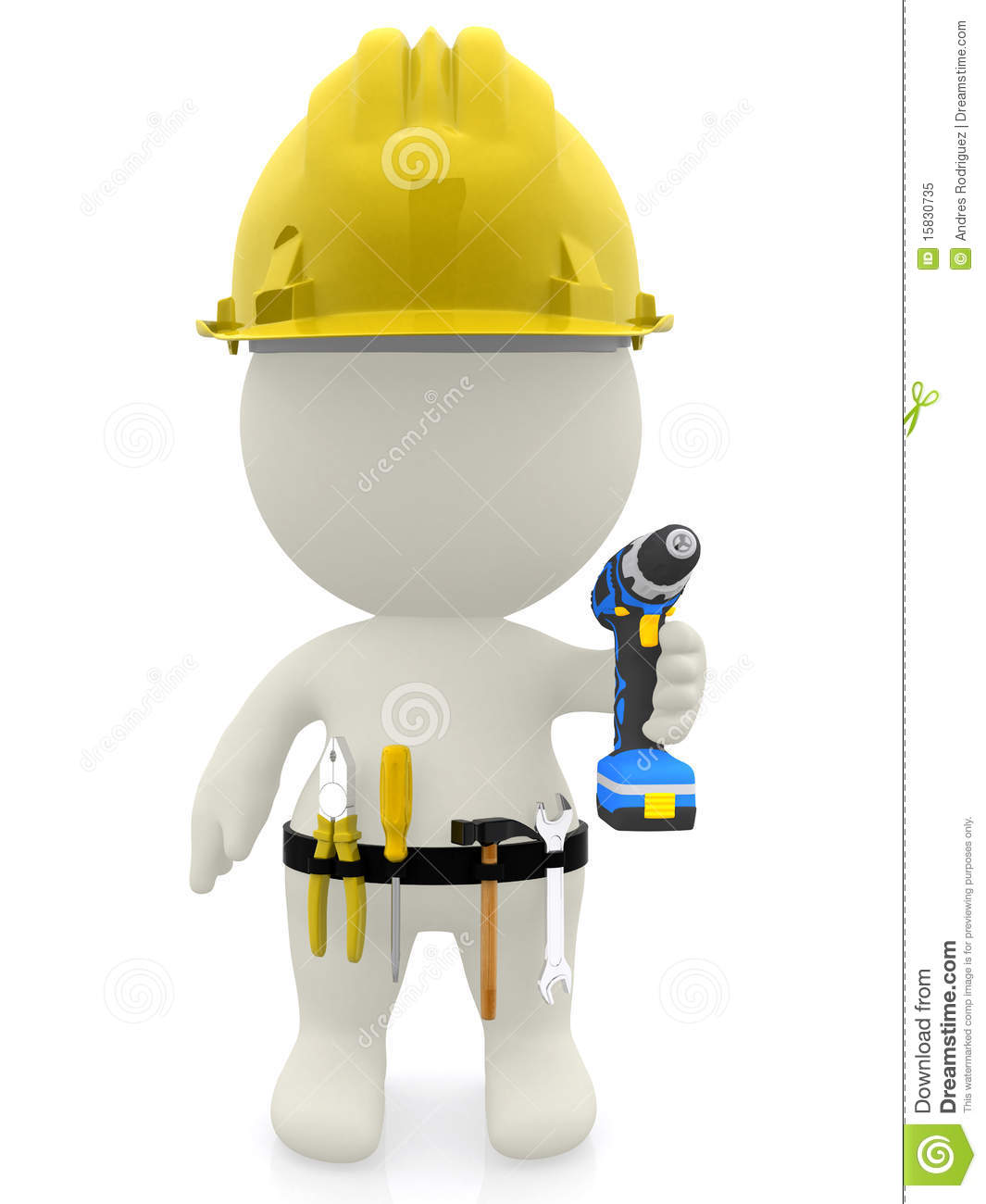 3d construction worker royalty free stock photo image for Construction 3d