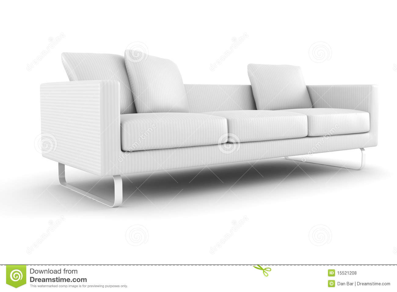 Astonishing 3D Couch Isolated On White Background Stock Illustration Gamerscity Chair Design For Home Gamerscityorg