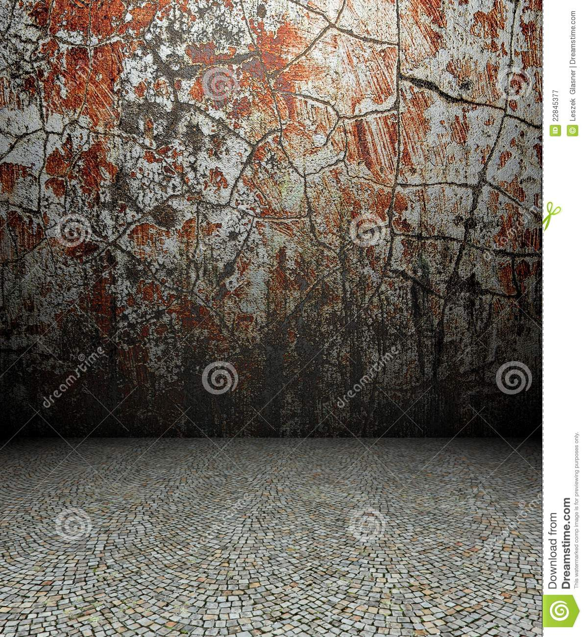 3d Cracks Wall And Pavement Royalty Free Stock Photography Image 22845377