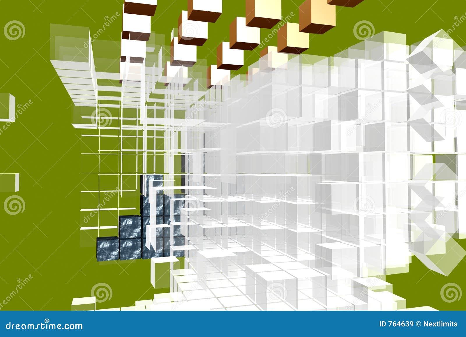 3d cubica la disposición del análisis
