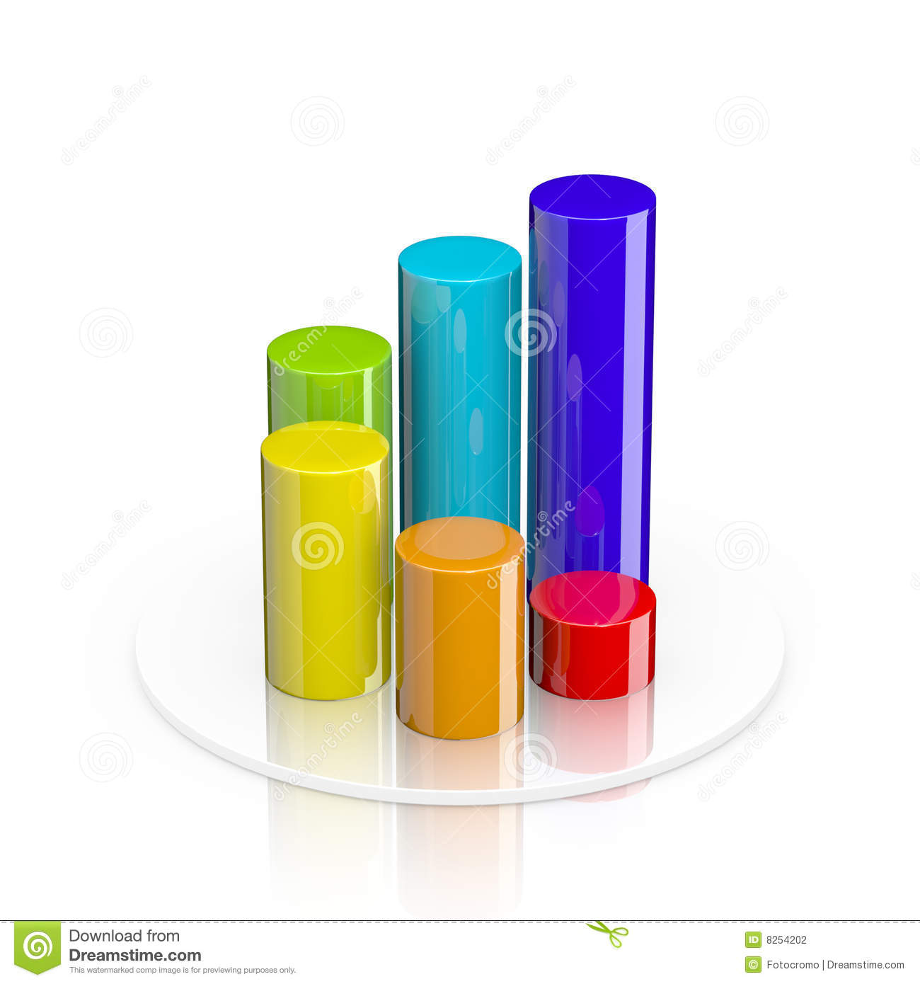 3d cylindrical bar graph stock illustration illustration for Grafica 3d gratis