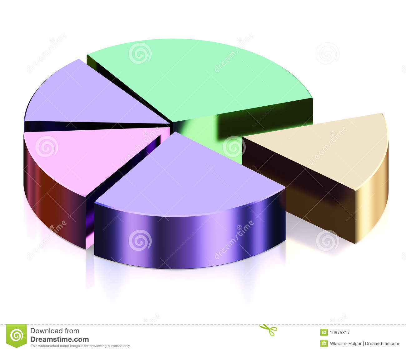 3d Diagram Royalty Free Stock Photography Image 10975817